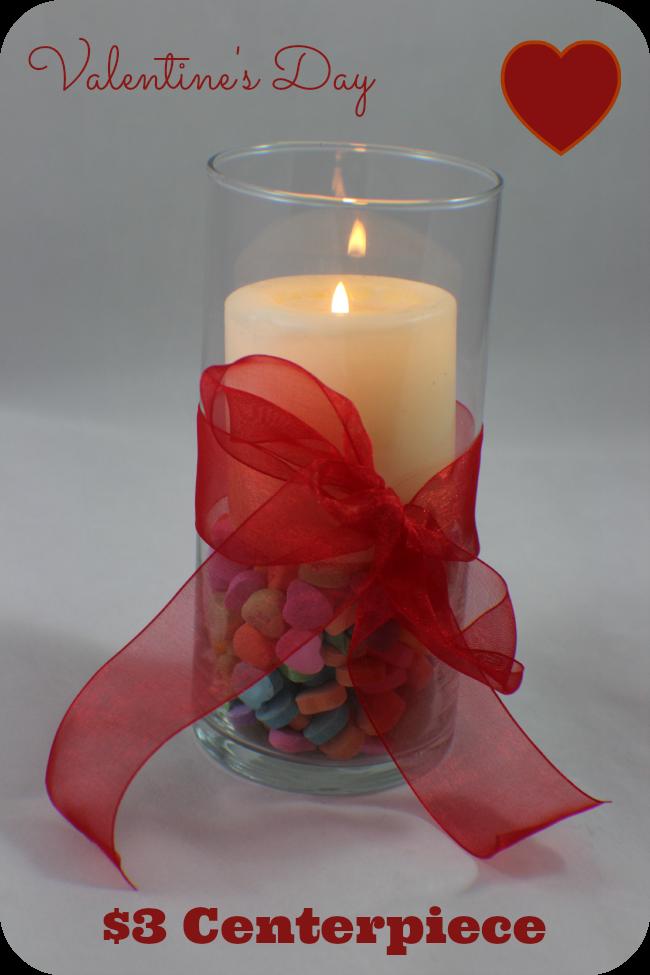Valentine S Day 3 Candy Heart Centerpiece Debt Free