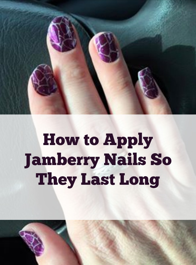 how to apply jamberry nails